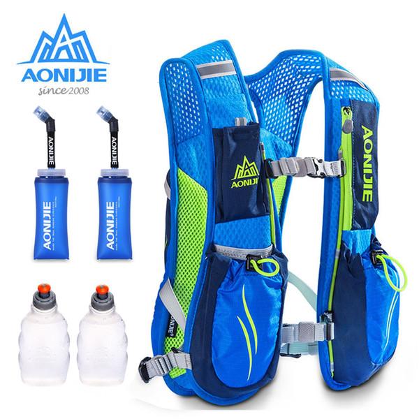 AONIJIE Running Marathon Hydration Nylon 5.5L Bolsas para correr al aire libre Senderismo Mochila Chaleco Marathon Ciclismo Mochila