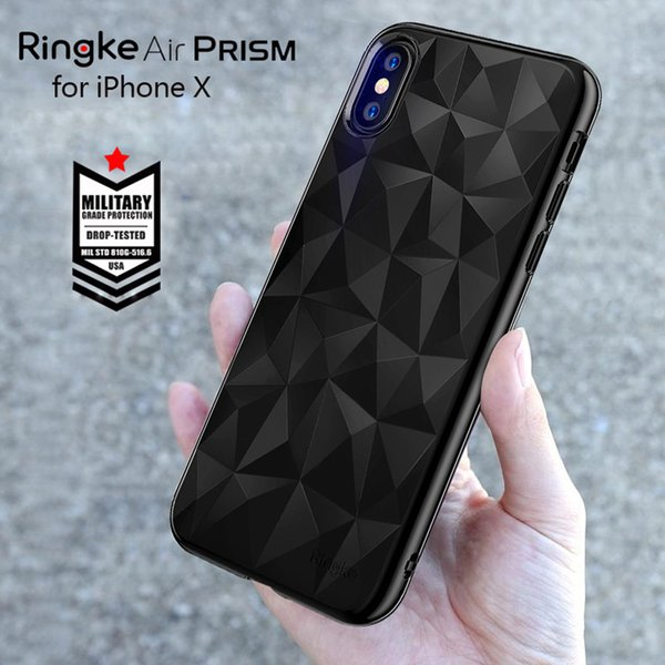 Étui Ringke Air Prism pour Iphone X Case Tpu flexible 3d Diamond Design Coques iphone Coque Micro Protection Iphone