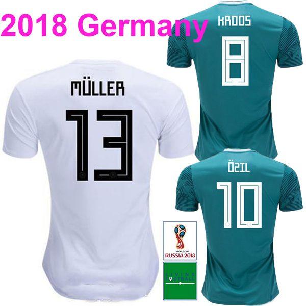 a071dd596 2018 GeRMany MULLER Soccer Jersey 2019 World Cup OZIL KROOS Home Soccer  Shirt HUMMELS GOTZE Away