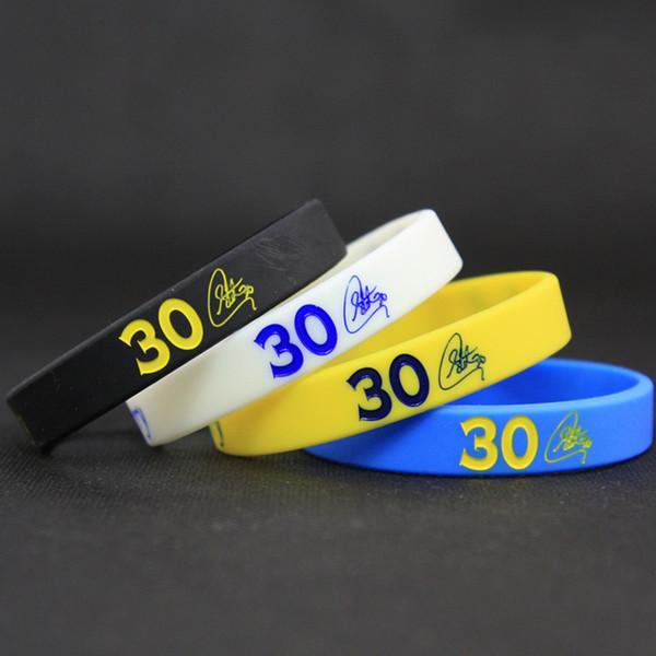 Men's Silicone Basketball Bracelets Stephen Curry Sport Energy Balance Wristband Power Bangle