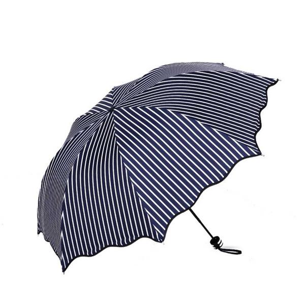 Rayon de protection soleil / parapluie en vinyle - Protection contre le soleil Parapluie pliant manuel UV Couleur foncée - couleur bleu / noir