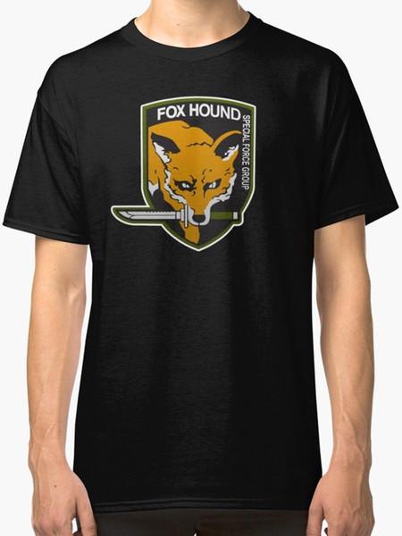 Fox Hound Special Force Group Männer schwarz T-Shirt S-2XLMen Mode schwarz Baumwolle