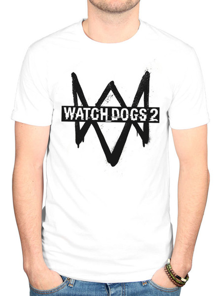 2018 Fashion Classic Watchdogs 2 Logo Graphic T Shirt Gamer Merch Shooter Entertainment Casual Short Sleeve Shirt Tee