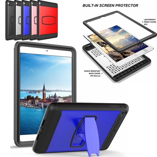 For New iPad Pro Air Mini 6 3 2 Full Body Kickstand Screen Protector Case Hard Back Cover Factory Price