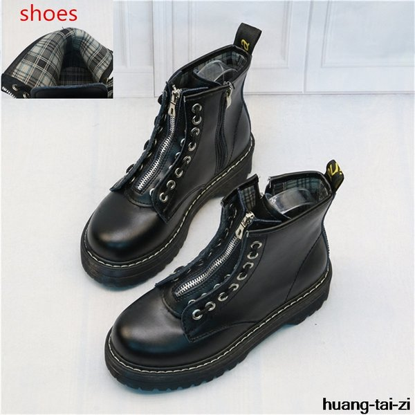 New Sexy Plus Size Platform Boots Patent Leather Shoes Women Autumn Winter Ankle Boots For Women Gladiator Shoes Ladies 35-40