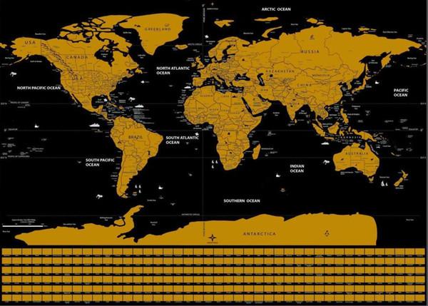 Yeni Seyahat Edition Çizik Dünya Haritası Duvar Sticker Posteri 82.5x59.4 cm Kişiselleştirilmiş Sanat Dergisi Büyük Harita Çıkartması