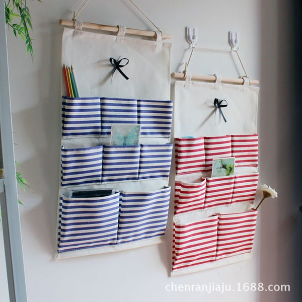 Cotton Navy Style Hanging Organizer Wall Storage Bag Sundries Holder Home Organizer Accessories Supplies Gear Stuff Product Case