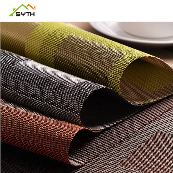 SYTH Placemat Fashion Pvc Dining Table Mat Disc Pads Bowl Pad Coasters Waterproof Table Cloth Pad Slip-Resistant kitchen