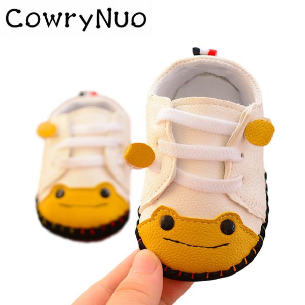 Astarı 11-13 cm Yumuşak Kauçuk Taban Bebek Ayakkabıları Toddlers Sevimli Kız Erkek PU Ilk Yürüteç