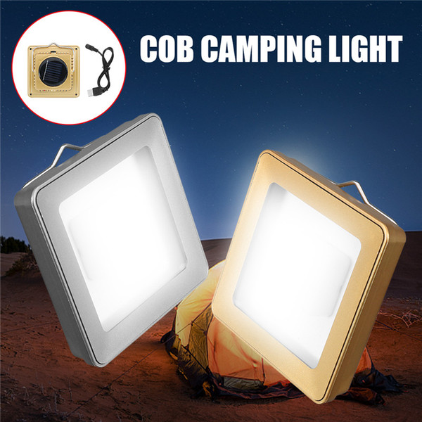 Mising Solar COB Outdoor Emergency Camping Tent Light Lamp Portable USB Rechargeable Hanging Lamp Lantern For Hiking