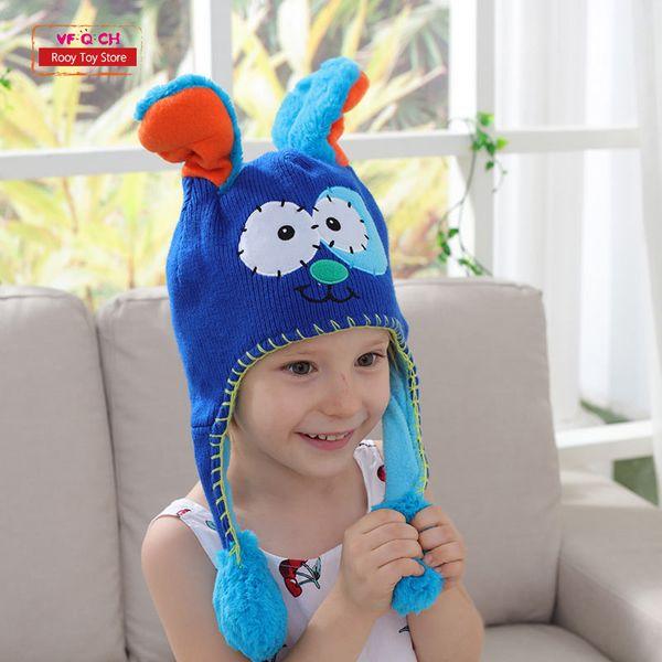 Earflap Flipeezd Magic Baby Hat Toys For Kids Animal Monster Action Bonnet Elf Infant Funny Toy Hats Children Christmas Gift