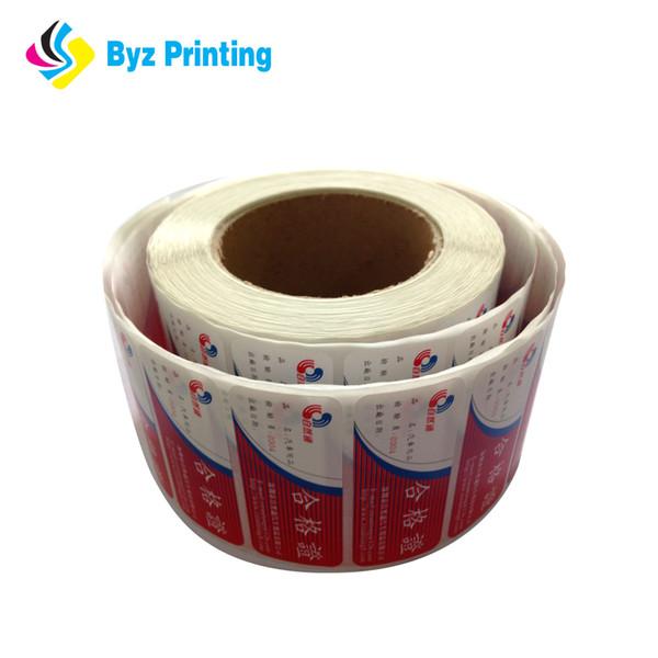 2019 New style for Custom CMYK printing self adhesive bottle label,glossy UV oil printing sticker wholesale