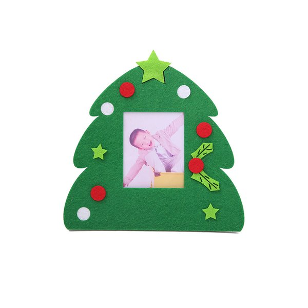 Non-woven Christmas Photo Frame Picture Holder Frame Xmas Tree Ornaments Gift Home Decor