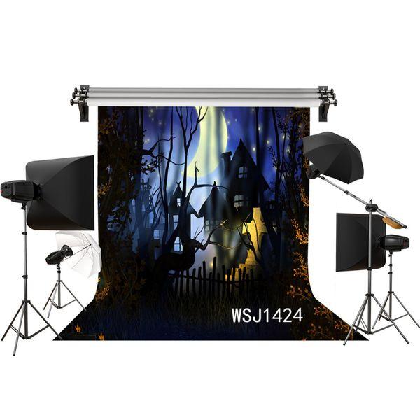 Großhandel Polyester Vinyl Halloween Friedhof Horrible Night Backdrops Hintergrund Für Fotografie Studio Kind Hintergrund Foto Requisiten