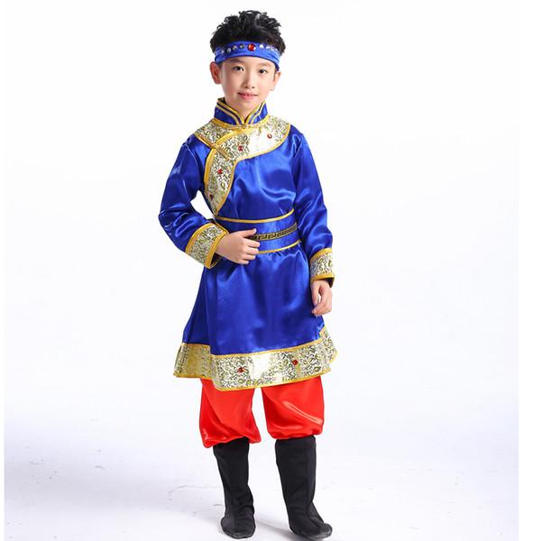 Neue Kindertanzkostüm mongolische ethnische tibetanische Kleidung Mädchen tanzen Rock chinesische Minderheit Kleidung Bühnenperformance
