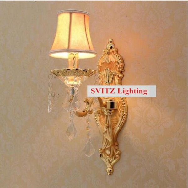 SVITZ Free shipping wall Sconce Wholesale price led wall lights with fabric shade modern Wall lamps Europe fluorescent for bedroom