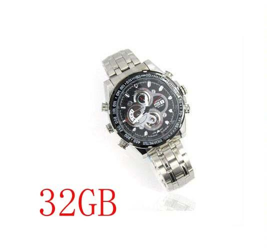 V1000 HD 1920*1080P New Watch Camera IR Night Vision Waterproof 32GB Motion Detection PC Webcam Function DVR Watch Camcorder