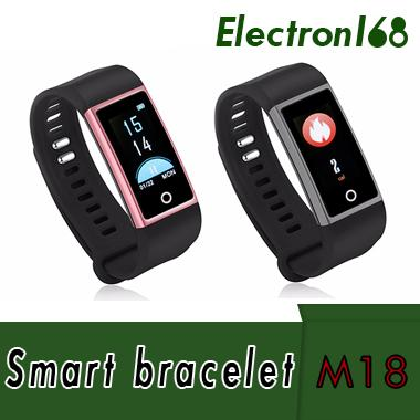 2018 M18 IP67 0.96' Smart Bracelet Wristband USB Charge Sports Note Sleep Test Message Reminder Heart Rate Blood Pressure Oxime