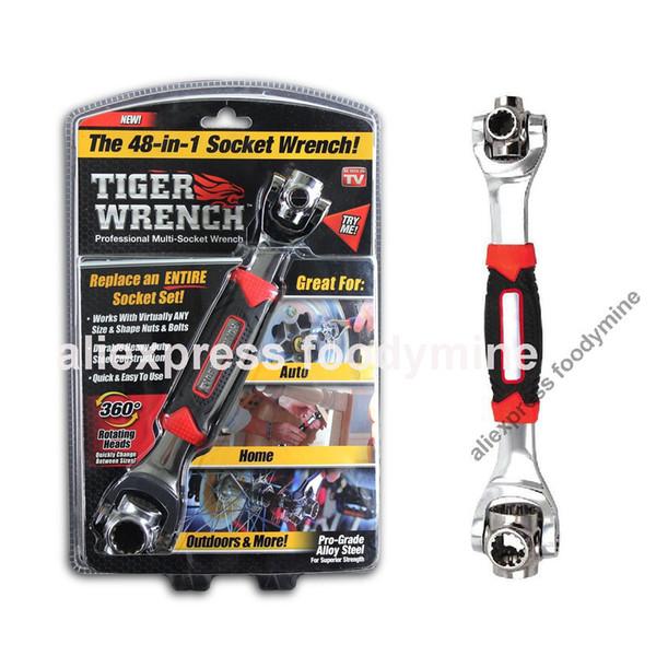 Tiger Wrench 48 in 1 Socket attrezzi funziona con bulloni Spline Torx 360 gradi di riparazione di mobili universitari a 6 punti
