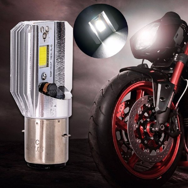 Free Shipping High Quality 5PCS/Lot H6 Motorcycle COB LED Headlight 12W H6 Led Motorcycle Bulb