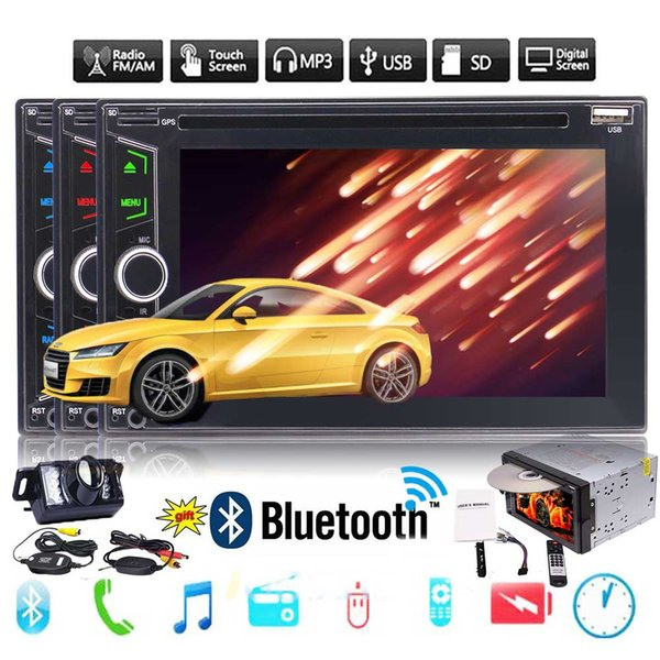 EinCar 6.2'' in Dash 2din Car Stereo Double Din Car DVD Player Automotive Bluetooth USB/TF FM/AM Aux Radio Entertainment Video