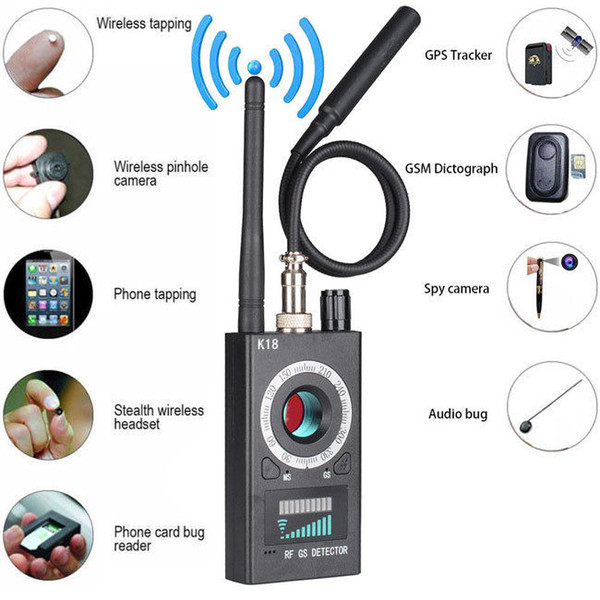best selling 1MHz-6.5GHz K18 Multi-function Camera Detector Camera GSM Audio Bug Finder GPS Signal Lens RF Tracker Detect Wireless Products
