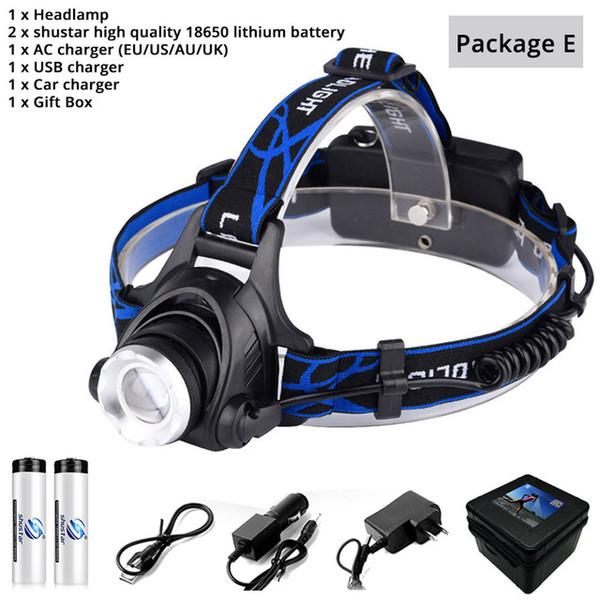 Headlamp+Battery+Plug+USB+BOX