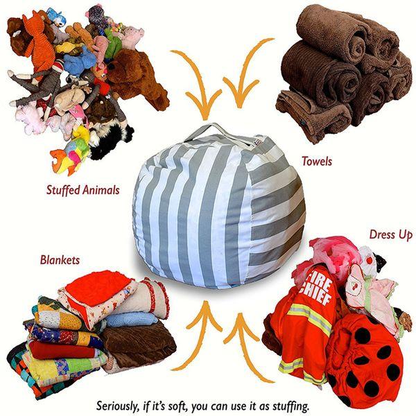 2019 Stuffed Animal Storage Bean Bag Plush Toys Beanbag Chair Premium  Cotton Canvas Toy Organizer Portable Clothes Storage Bag From Goodhopes,  $6 82 |