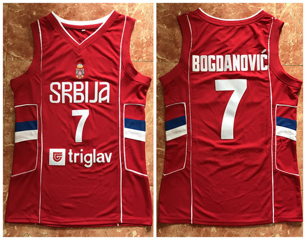 brand new 29344 4b58f 2019 #7 Bogdan Bogdanovic Team Serbia Retro Classic Basketball Jersey Mens  Stitched Jerseys From Yufan4, $31.47   DHgate.Com