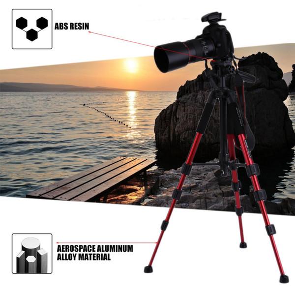 Zomei q111 aluminium stativ einbeinstativ kamera zubehör für slr kamera mit tragetasche rot schwarz zwei farben erhältlich