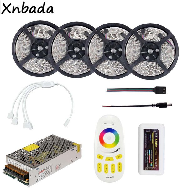 2835smd Rgb Led Strip 60leds/M Flexible Light With Milight Rgb Led  Controller Power Supply Kit 5m 10m 15m 20m Aquarium Led Strip Led Light  Strips For