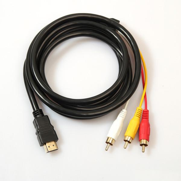 5FT 1,5 M 1080 P HDTV HDMI Stecker auf 3 RCA 3 RCA Stecker Audio Video AV Kabel Adapter Konverter Stecker Komponente Kabel