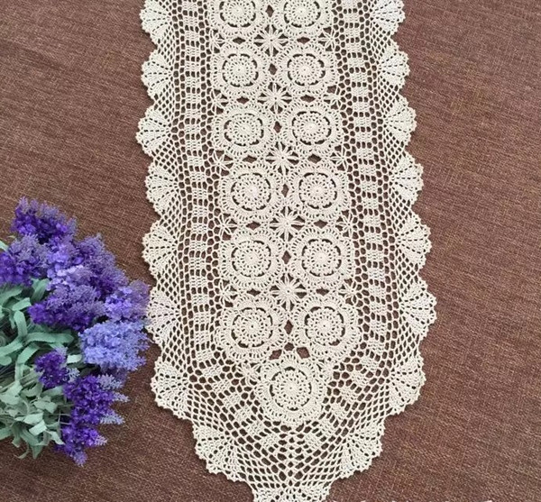 Surprising 90 150 180 250Cm Shabby Chic Cottage Crocheted Vintage Table Runner Table Linen Uk Table Linens From Calars 32 89 Dhgate Com Download Free Architecture Designs Remcamadebymaigaardcom