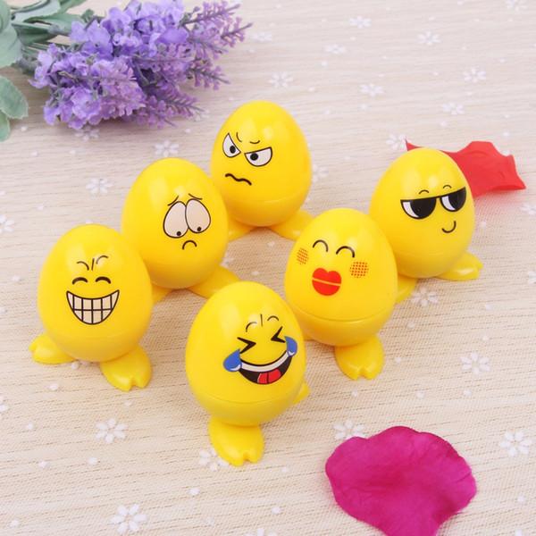 6pcs/Set Kids Egg Smile Emoji Smiling cartoon self inking stamp set gift for kids scrapbooking DIY decoration