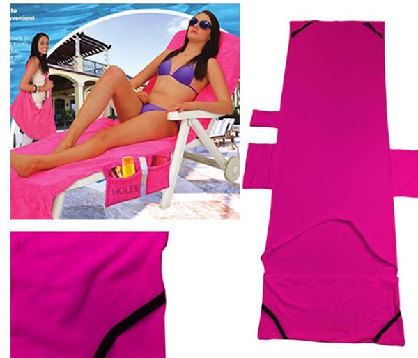 215x75cm Lounger Mate Beach Towel Microfiber Double Velvet Sunbath Lounger Bed Holiday Garden Beach Chair Cover Towels