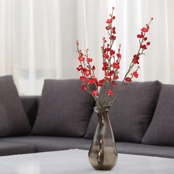 Wedding Party Home Decorative Floristry Artificial Cherry plum Blossom wintersweet Tree Fake flowers Sakura Orchid Flowers DIY Plant Garden
