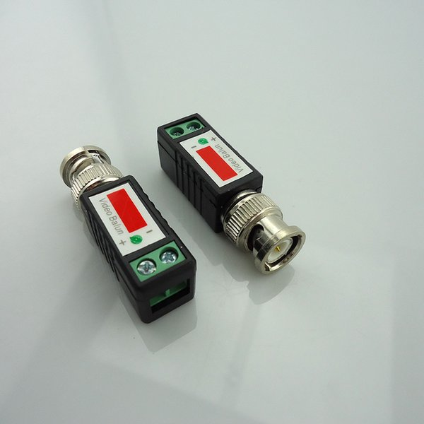Cctv Twisted Bnc Passive Video Balun Transceiver Bnc Male Coax Cat5 Camera Utp Cable Coaxial Adapter For Cctv Camera
