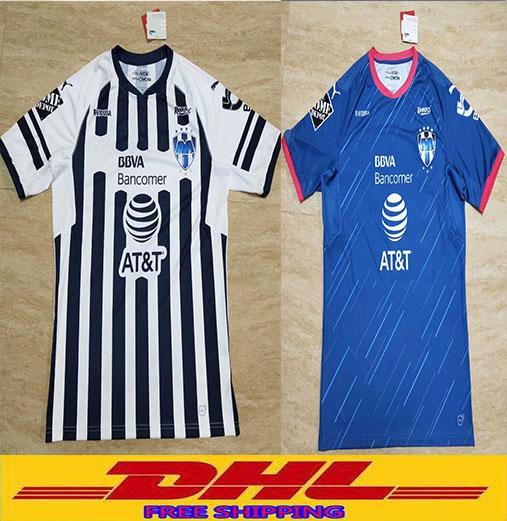 DHL Free shipping Thai 2018 2019 Monterrey soccer jerseys D.PABON R.FUNES MORI football shirt 18/19 Monterey jersey Size can be mixed batch
