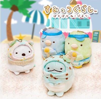 Acheter Nouveau Kawaii San X Sumikko Gurashi Crème Glacée Farcie Jouets Blanc Ours Pingouin Animal Peluche Jouet Pour La Fête Danniversaire Des