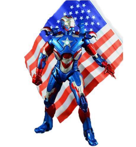 """Iron Man 3 Iron Patriot Action Figure Superhero Iron Man PVC Figure Toy 8""""20CM Free Shiping"""