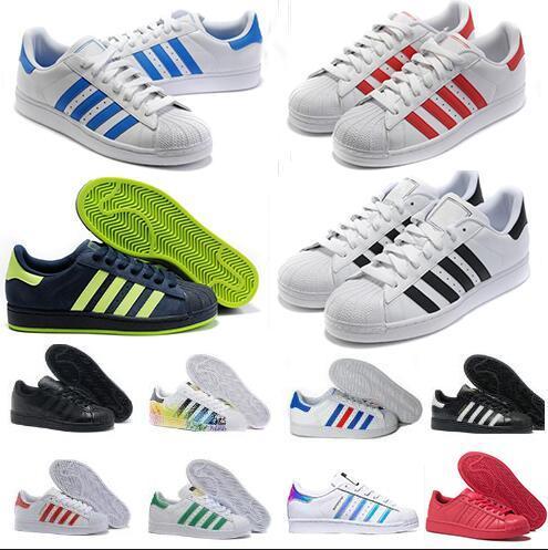 a616d47eb5 2016 Hot Sale Fashion New Originals Superstar White Hologram Iridescent  Junior Superstars 80s Pride Sneakers Women Men Running Shoes 36 44 Sport  Shoes ...