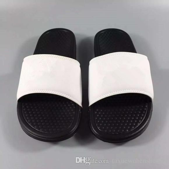 2018 Büyük Boy Erkek Kadın Çift Sandalet Terlik Ayakkabı Çevirme Slayt Moda Tasarımcısı Ücretsiz Kargo