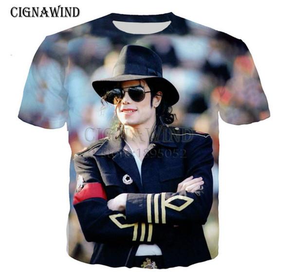 Новая мода женская / мужская популярные michael jackson3D печати Спорт Повседневная футболка AI01