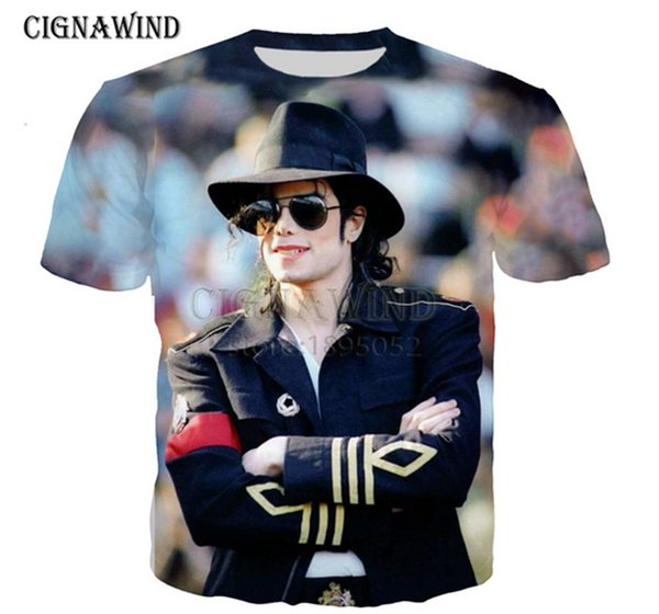 Neue Mode Frauen / Herren beliebte Michael Jackson3D Drucken Sport Casual T-Shirt AI01
