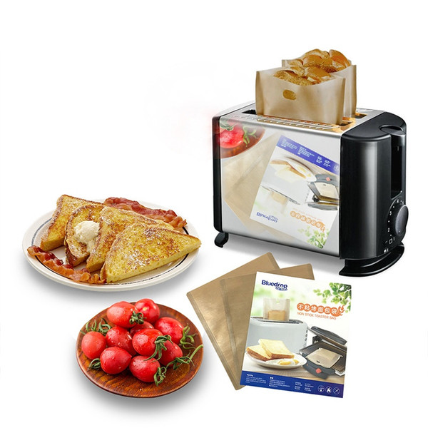 Toaster Bags for Grilled Cheese Sandwiches Made Easy Reusable Non-stick Baked Toast Bread Bags Microwave Heating Pastry Tools