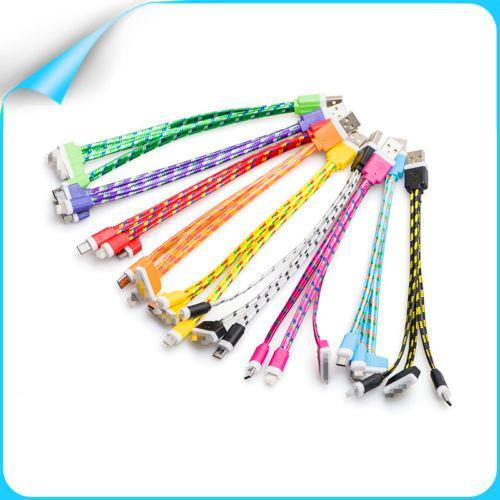 Multi-function mobile phone data cable charging cable usb data cable Andrews Apple phone universal short-term variety of colors Cell Phone A