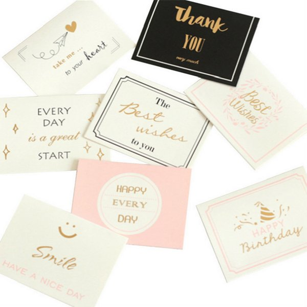 Wholesale Sweet Wish Lovely For You Happy Birthday Thank You Favor Gift Card Greeting Christmas Printed Card/Kid Gift
