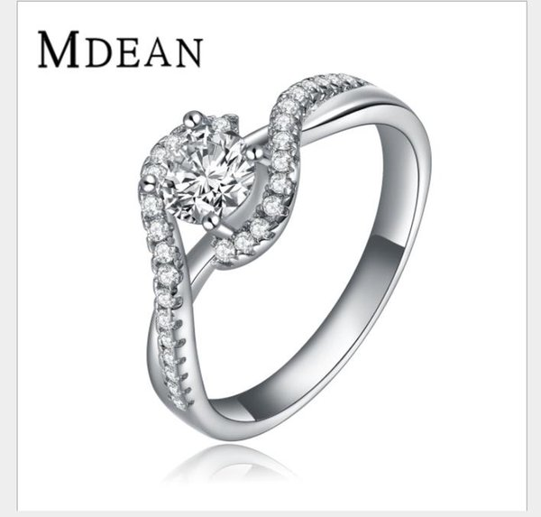 2018 High grade white gold trend ring with high quality zircon.