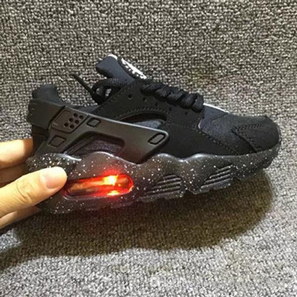 New Air Huarache Infant Baby Kids Running Shoes Breathable Mesh Cushion Huraches Lighting Huaraches Designer Sneakers Eur 26-35