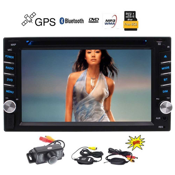 Wireless Backup Camers+2 Din Car DVD Player Autoradio Stereo Wince System Automotive Parts GPS Auto Radio Electronics Double Din in Dash MP3